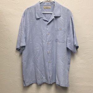Tommy Bahama Short Sleeve Light Blue Size XL